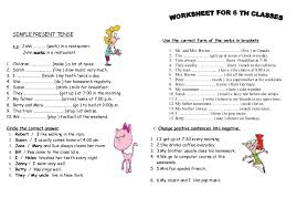 worksheets on simple present tense with answers also worksheet