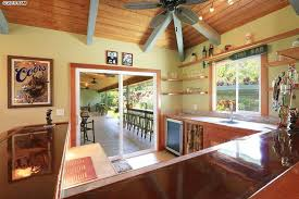 Ceiling Fan For Kitchen Tropical Kitchen With High Ceiling U0026 Wood Counters In Haiku Hi