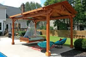 hammock chair pergola patio contemporary with gate stainless steel