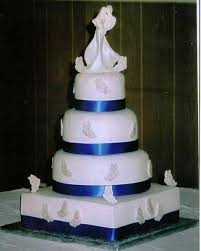 royal blue silver and white wedding cakes tbrb info