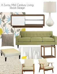 light green couch living room a sunny mid century living room design the suburban urbanist