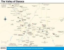 Oaxaca Mexico Map Teotitlan Del Valle Free Here