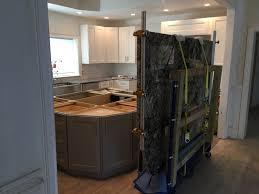 Oversized Kitchen Island White Tiger Granite Caps The Oversized Kitchen Island Emrichpro Com