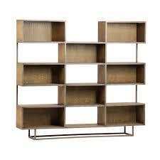 modern steel u0026 oak bookcase furniture mix furniture