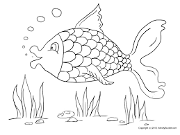 fish kids coloring page free download