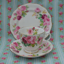 vintage china with pink roses reserved custom order bc sadler teapot size cube pink and