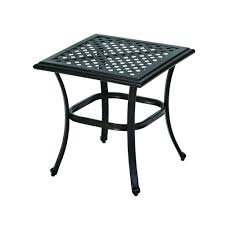 Outdoor Side Table Ideas by Hampton Bay Fall River Patio Side Table D11034 Ts The Home Depot