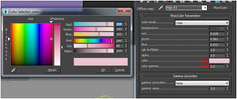 how to produce accurate wall paint colour in vray linear workflow