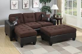 Chocolate Brown Living Room Sets F6928 Bk14 P29 3pc All In One Sectional In Chocolate Color