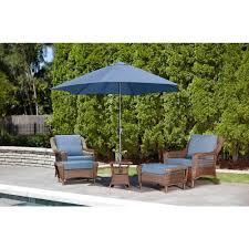 Umbrella Side Table No1 Hampton Bay Spring Haven Brown All Weather Wicker Patio Side