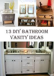 diy bathroom vanity ideas 13 gorgeous diy bathroom vanity ideas diys to do