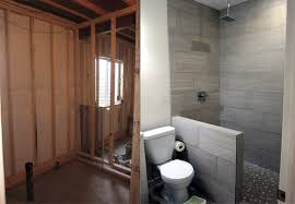basement bathroom ideas how to finish a basement bathroom before and after pictures