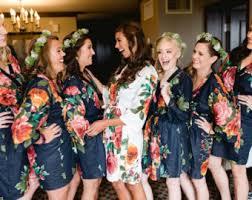 and bridesmaid robes bridesmaid robes cotton etsy