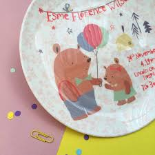 baby birth plates miss personalised baby birth plate by ethel and co