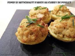 cuisiner coeur d artichaut fonds d artichauts farcis au curry de poulet recettes voyageuses