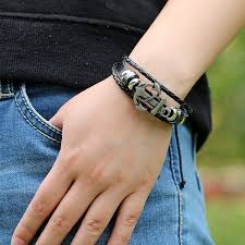 leather braided anchor bracelet images Mens anchor bracelet www thehoffmans info jpg