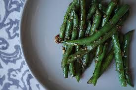 asian garlic green beans recipe on food52