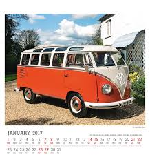 volkswagen type 6 vw camper van official 2017 desk easel calendar month to view