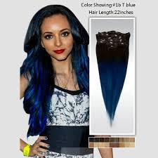 blue hair extensions two color 1b blue ombre clip in extensions peruvian hair
