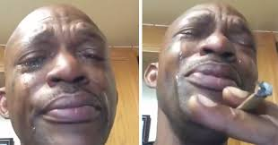 Crying Black Man Meme - guy can t stop crying over his good weed video ebaum s world