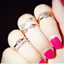 silver pretty rings images Pretty knuckle rings daisy rings stretch ring sliver ring cute jpg
