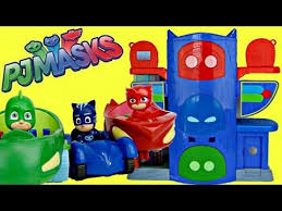 pj masks headquarters hq playset owlette catboy gekko mobile