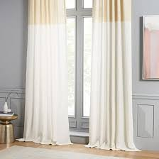 White And Yellow Curtains Yellow Curtains West Elm