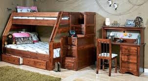 Prescott Twin Over Full Stairway Bunk Bed - Full and twin bunk bed