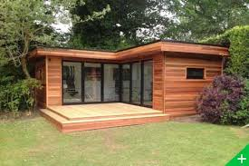 chalet bureau ext駻ieur réalisation studio de jardin et bureau en ossature bois