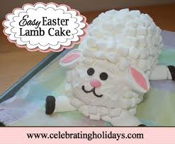 Easter Sheep Decorations by Easter Lamb Cake Recipe Celebrating Holidays