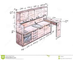 Draw Kitchen Cabinets by Delighful Interior Design Sketches Kitchen House Free Wallpaper E