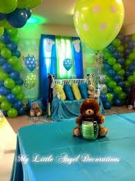 green baby shower decorations baby shower decorations blue and green baby shower ideas