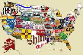 Geography Map Of Usa by Beer Map Of Usa My Blog
