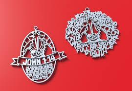 3d printed christmas ornament hand written version john 1 14 by