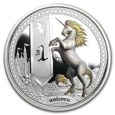 2013 tuvalu 1 oz silver mythical creatures unicorn proof silver