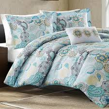 Blue And White Comforter Mizone Tamil Blue Full Queen Comforter Set Free Shipping