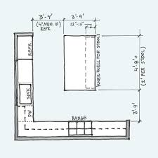 what size should a kitchen be to an island do i space for a kitchen island and other kitchen