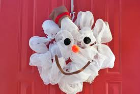 how to make a deco mesh snowman wreath factory direct craft