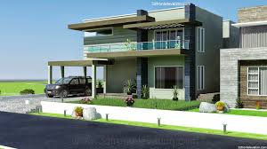 Contemporary House Style 3d Front Elevation Com 2 2 Kanal Dha Karachi Modern Contemporary