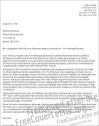 cover letter for assistant principal elementary u2013 job resume example