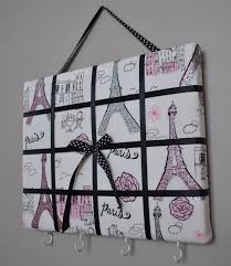paris themed bedding for girls paris themed french memo board organizer bow holder by