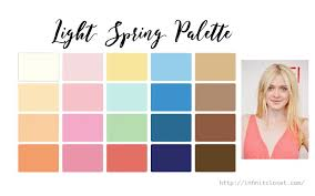 spring color light spring palette light warm infinite closet