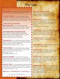 menu allsports cafe