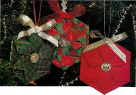 christmas ornament origami folded pictures embroidery u0026 origami