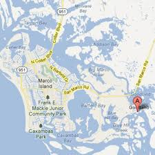 Marcos Island Florida Map Kayak Marco Island Florida