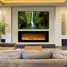 touchstone 80011 sideline 60 recessed electric fireplace 60