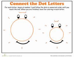 dot to dot alphabet o worksheet education com