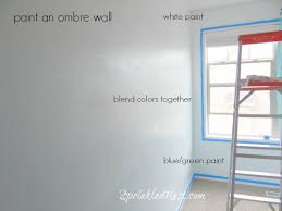 paint an ombre wall sprinkled nest