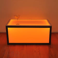 Coffee Table Cube Cube Coffee Table Led Table For Your Bar Or Nightclub Led