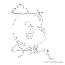 bubble letter printable alphabet stencils free printable stencils